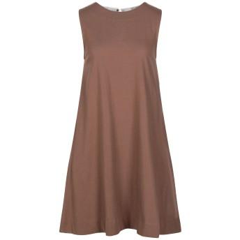 《セール開催中》ALPHA STUDIO レディース ミニワンピース&ドレス ココア 38 コットン 100%