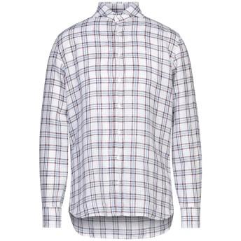 《セール開催中》LARDINI メンズ シャツ ホワイト 38 リネン 100%