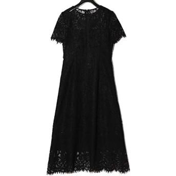 GRACE CONTINENTAL グレースコンチネンタル フラワーレースドレス 0220135082/2020春 レディース ドレス オケージョン 結婚式 2次会 BLACK(ブラック) 36