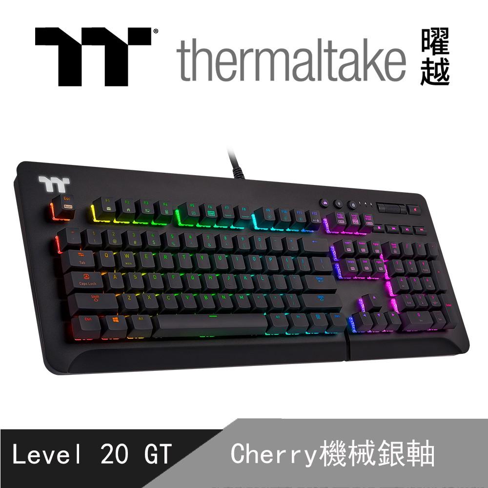 曜越 Level 20 GT RGB Cherry MX 機械式 銀軸 電競鍵盤 GKB-LVG-SSBRTC-01