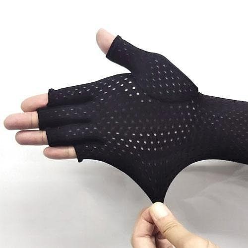 Alphax AQUA 降溫5度涼感防曬袖套 全黑款/露指款 手套 透氣 可滑手機 觸控 智慧型手機【JE精品美妝】