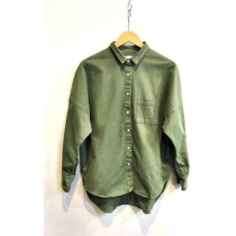 二子玉) upperhights アッパーハイツ 19SS ARMY THE LIONAシャツ 定価25300円 ロングスリーブ コットン レディース 1 カーキ