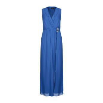 《セール開催中》ATOS LOMBARDINI レディース ロングワンピース&ドレス ブルー 44 レーヨン 100% / ポリエステル
