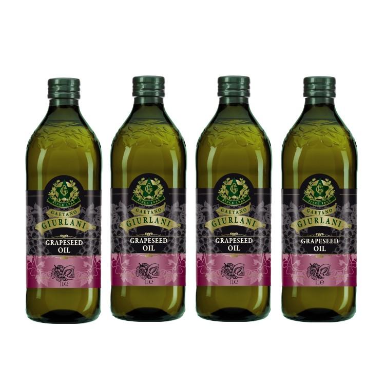 喬凡尼葡萄籽油1公升4瓶組(可選擇搭贈喬凡尼禮盒)(限配送台灣本島地區)