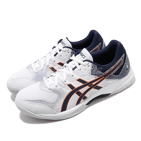 Asics 排羽球鞋 Gel-Rocket 9 白 深藍 男鞋 運動鞋 【ACS】 1071A030102