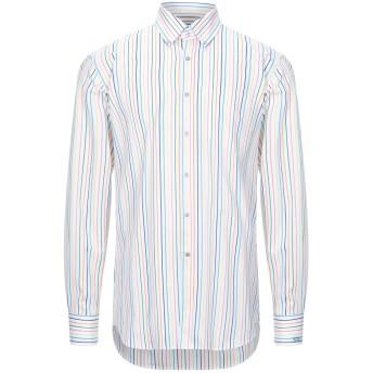 《セール開催中》PAUL & SHARK メンズ シャツ ホワイト 40 コットン 100%