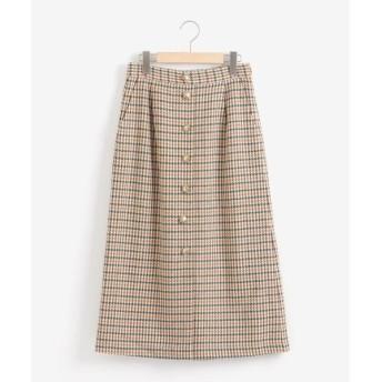 NIMES / ニーム チェックセミタイトスカート