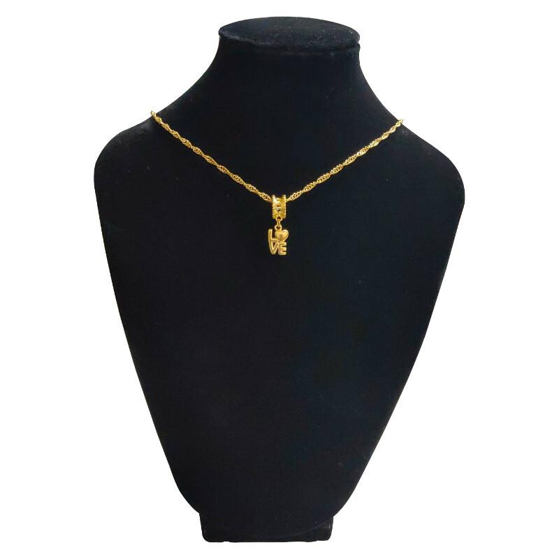 唯一愛 24k真金電鍍精品吊飾鎖骨鍊