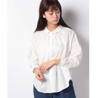 【サマンサ モスモス】【SM2】レース丸衿シャツ
