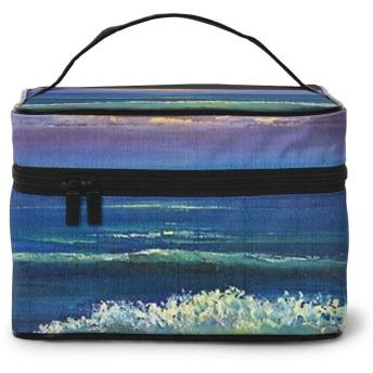 メイクポーチ 化粧ポーチ コスメバッグ バニティケース トラベルポーチ 綺麗な海 雑貨 小物入れ 出張用 超軽量 機能的 大容量 収納ボックス