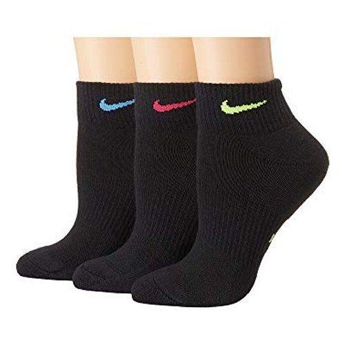 Nike 2018女時尚彩色標誌黑色運動短襪3入組【預購】