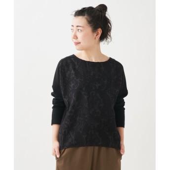 BEARDSLEY/ビアズリー フロント刺繍カットソー ブラック S