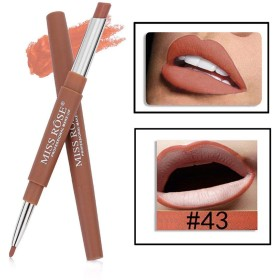 MISS ROSE 2 IN 1 Waterproof Matte Lip Liner With Lipstick shade -43