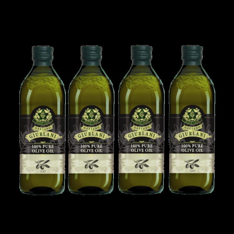 喬凡尼老樹純橄欖油1公升4瓶組(可選擇搭贈喬凡尼禮盒)(限配送台灣本島地區)