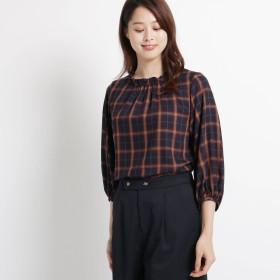 SunaUna(スーナウーナ)/【洗える】シーツイルチェックシャツ