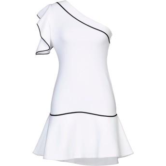《セール開催中》GENNY レディース ミニワンピース&ドレス ホワイト 40 レーヨン 67% / ポリエステル 33%