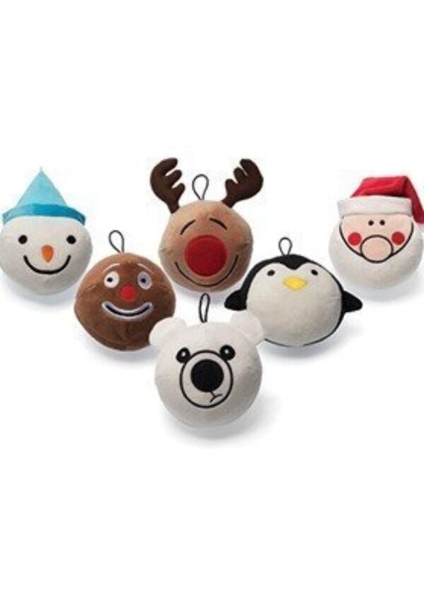 loldog 表情玩具球聖誕節派對表情玩具球-六入組