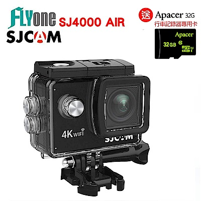 FLYone SJCAM SJ4000 AIR 4K WIFI 防水型運動攝影行車記錄器