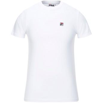 《セール開催中》FILA メンズ T シャツ ホワイト XS コットン 100%