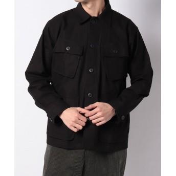 (AMERICAN RAG CIE/アメリカンラグシー)ARCMシャツL/S/メンズ ブラック