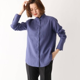 DRESSTERIOR(Ladies)(ドレステリア:レディース)/【草木染め】オーガニックラミーピンタックシャツ