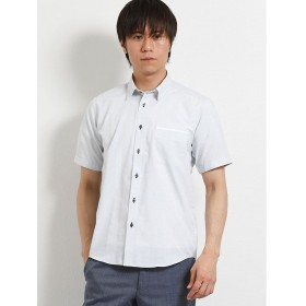 【25%OFF】 タカキュー パナマウィンドペン パイピング衿ワイヤー半袖シャツ メンズ グレー LL(XL) 【TAKA-Q】 【セール開催中】