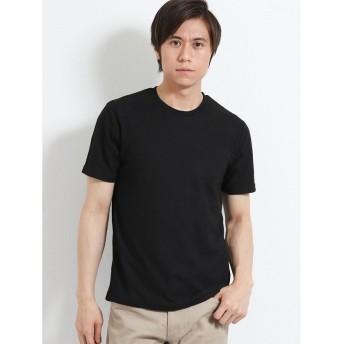 【33%OFF】 タカキュー リンクスチェックジャガード クルーネック半袖Tシャツ メンズ ブラック L 【TAKA-Q】 【セール開催中】
