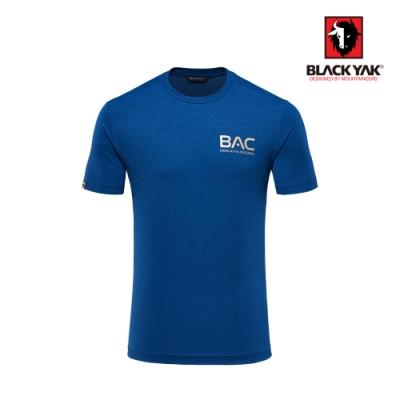 【BLACK YAK】男BAC logo吸排短袖上衣 [海軍藍]