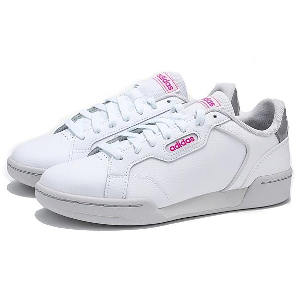 ADIDAS ROGUERA 白 灰 粉 皮革 運動 休閒鞋 女 (布魯克林) EH2532