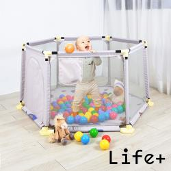 Life Plus 費瑞德兒童安全防護圍欄/遊戲床-刺蝟小象