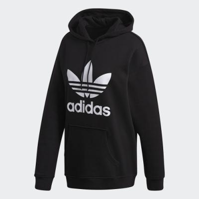 adidas 愛迪達 ADICOLOR 連帽上衣 女裝 黑色 FM3307