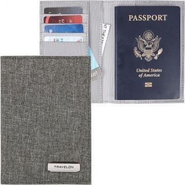 TRAVELON 兩折式護照夾(灰)
