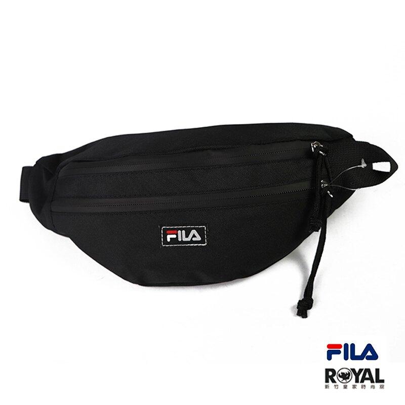FILA 黑色 防潑水 聚酯纖維 斜背包 腰包 NO.H2726