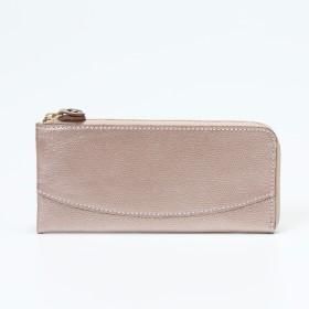TOPKAPI(トプカピ)/角シボ型押しメタリックレザー・L字型長財布