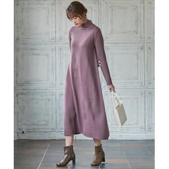 (KOBE LETTUCE/コウベレタス)Aラインニットワンピース [E2270]/レディース ピンク