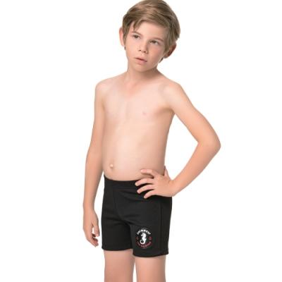 聖手牌 兒童泳裝 海馬SPA/泡湯男童泳褲(黑色)