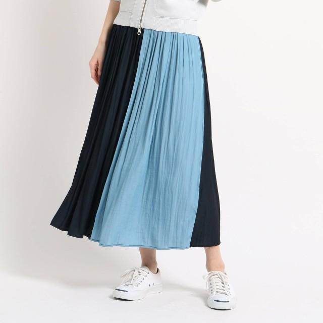 Dessin(Ladies)(デッサン:レディース)/◆【洗える】パウダーサテンギャザーロングスカート