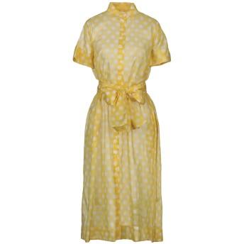 《セール開催中》LISA MARIE FERNANDEZ レディース 7分丈ワンピース・ドレス イエロー 4 コットン 100%