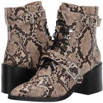 [スティーブマデン] シューズ ブーツ・レインブーツ Astrid Lace-Up Boot Tan Snake レディース [並行輸入品]
