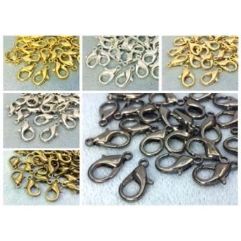 ◆ 金具 カニカン 丈16mm 50個入り フック 留め具 副資材 卸し 大中サイズ