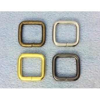 1425● クラフト金具 角カン 内径13mm 線径2.8mm 10個入り 鉄製 カクカン アンティークゴールド(真鍮古美) ニッケル ゴール