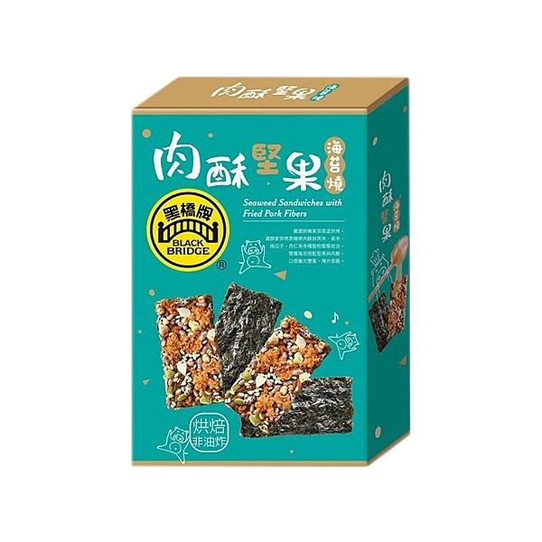 黑橋牌 肉酥堅果海苔燒60g(盒裝)【小三美日】※禁空運