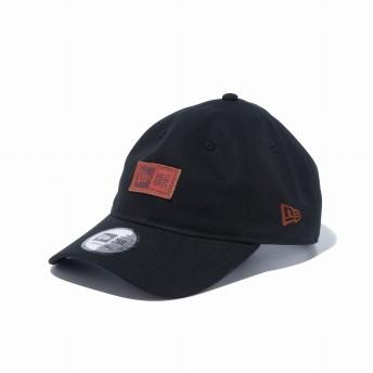 NEW ERA ニューエラ 9THIRTY クロスストラップ ダックキャンバス レザーパッチ ブラック アジャスタブル サイズ調整可能 ベースボールキャップ キャップ 帽子 メンズ レディース 56.8 - 60.6cm 12326381 NEWERA