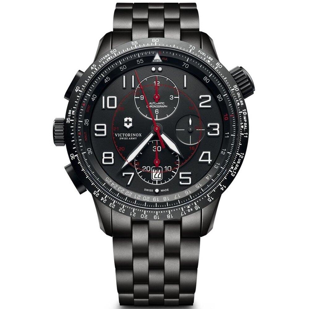 VICTORINOX 瑞士 維氏錶 Airboss Mach 9 Black Edition腕錶   VISA-241742