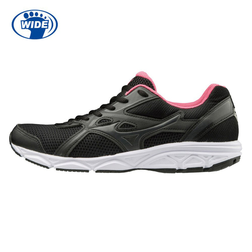 Mizuno Maximizer 22 [K1GA200103] 女 慢跑鞋 運動 步行 輕量 舒適 耐磨 寬楦 黑粉