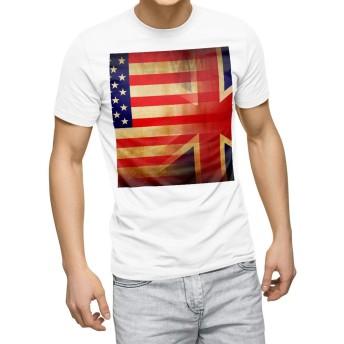 igsticker プリント Tシャツ メンズ 3XL XXXL サイズ size おしゃれ クルーネック 白 ホワイト t-shirt 012669 アメリカ イギリス アンティーク