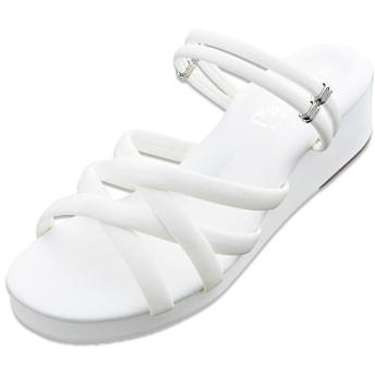 30%OFF【レディース】 マルチストラップサンダル(ナースサンダル) - セシール ■カラー:ホワイト ■サイズ:L(23.5-24cm)