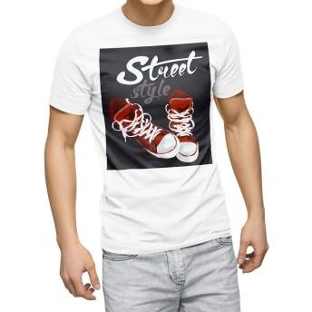 igsticker プリント Tシャツ メンズ 3XL XXXL サイズ size おしゃれ クルーネック 白 ホワイト t-shirt 010165 おしゃれ ファッション 英語