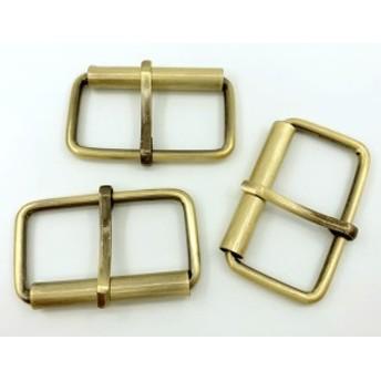● 金具 管 バックル 内径38mm 線径3mm 10個入り 光沢アンティークゴールド 鉄製 管美錠 バッグに