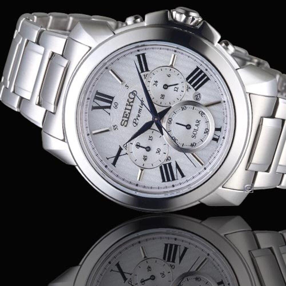SEIKO精工PREMIER經典傳現計時腕錶 V175-0EH0S SSC595J1